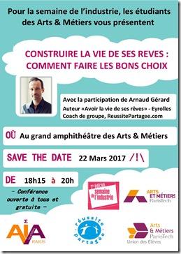 conf Arts Métiers Arnaud Gerard affiche